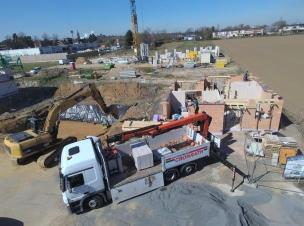 Blick auf unsere Baustelle aus der Luft.