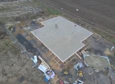 Luftaufnahme Bodenplatte mit unserer Kameradrohne aufgenommen