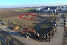 Unser Grundstück aus der Luft fotografiert