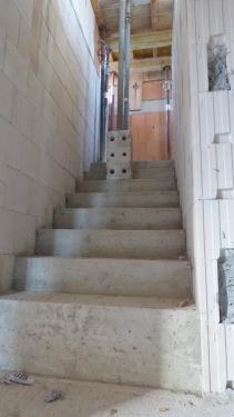 Rohbau, Treppenaufgang