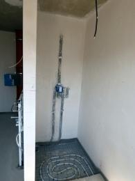 Unsere gemauerte Dusche, mit Fußbodenheizung
