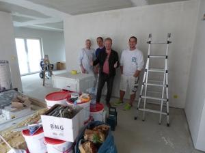 Das Samore Malerteam und ich im EG.